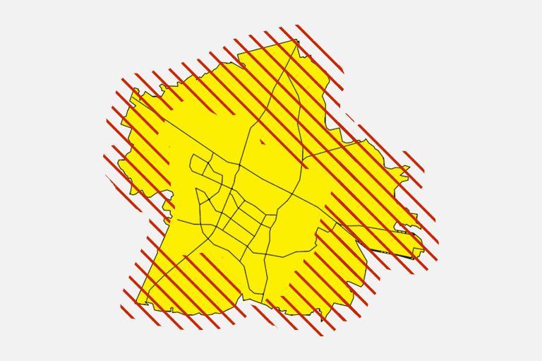 mapa podmiejska